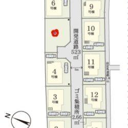 古淵駅徒歩18分 木曽西1丁目新築戸建8号棟(全14区画)🍀仲介手数料無料+キャッシュバックキャンペーン対象物件🍀他の号棟の間取図もございますので、お申し付け下さい。令和2年4月完成予定